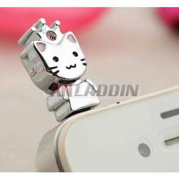 Cat dust plug for 3.5MM headphone jack