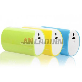 Cell phone 5000 mA mobile power bank with LED flashlight