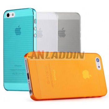 Cell phone ultra - thin transparent case for iphone 5 / 5s