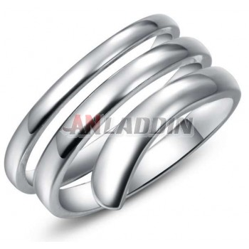 Charming sterling silver circles ring