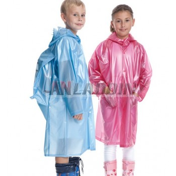 Children solid color raincoat