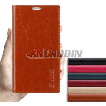 Clamshell leather protective cover for ZTE A880