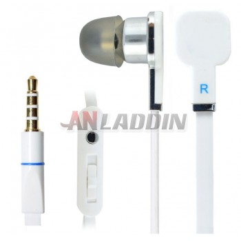 Classic earbud headphones with microphone
