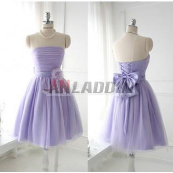 Classic flowers + bow bridesmaid dress