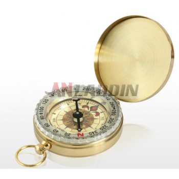 Classic round copper luminous compass