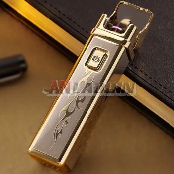 Cool electric arc USB rechargeable zinc alloy lighter