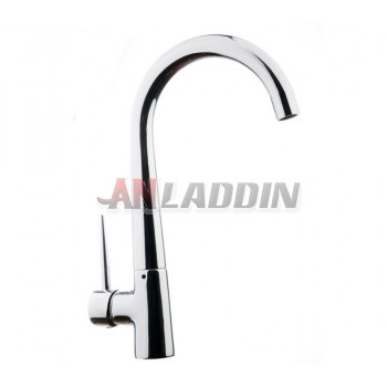Copper kitchen faucet hot and cold water can be rotated