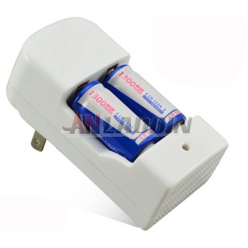 CR123A 3V rechargeable lithium battery kit