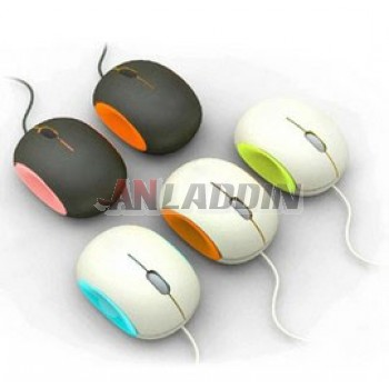 Creative cute egg-shaped wired mouse