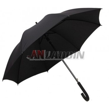 Curved handle windproof custom business umbrella