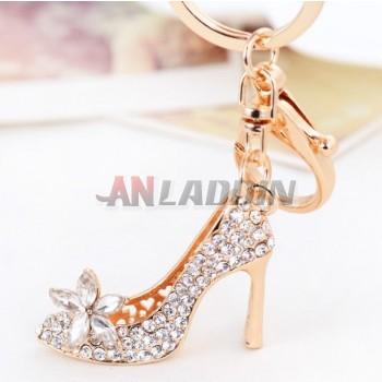 Diamond Beautiful high heels keychain