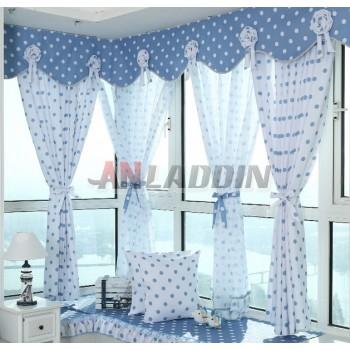 Dots patterns hooks version curtains