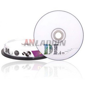 Double DVD + R 8.5GB 8X blank disc 10 pack