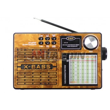 DP-60 retro full-band stereo radio / MP3 Portable Speaker
