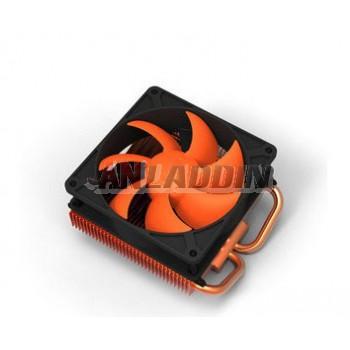 Dual heat pipe graphics card fan