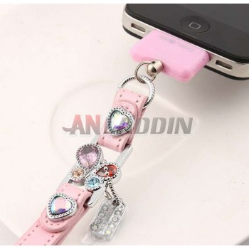 Dustproof phone chain for iphone4 4S