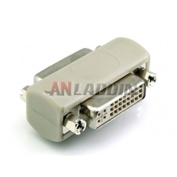DVI24 +5 female to female adapter / DVI signal cable extension adapter