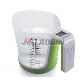 Electronic kitchen measuring cup