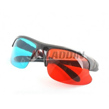 HD 3D stereoscopic glasses / fashion half frame 3D glasses FOR PC
