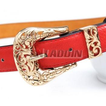 Fashion ladies popular leather belt