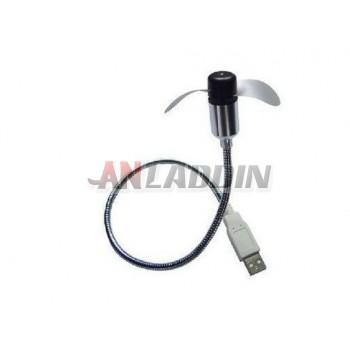 Free bending USB fan / mini fan for laptop