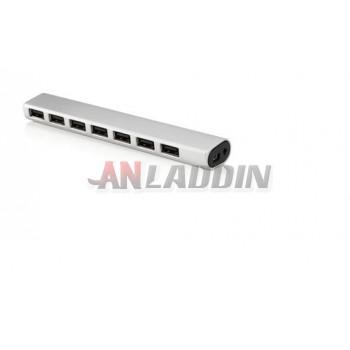 Full aluminum USB2.0 hub / 7 independent power supply port