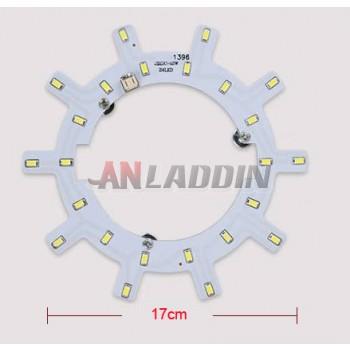 Gear-shaped 12W-24W 5730 SMD LED lights panel