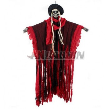 Halloween horror sound control luminous skeleton man