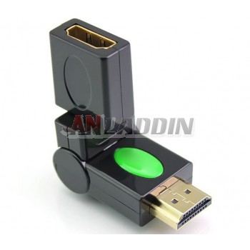 HDMI 360 degree swivel adapter / Male to Female 1.4
