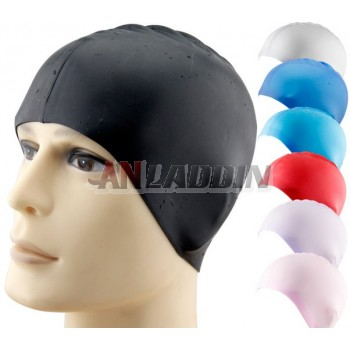 High elastic silicone swimming cap