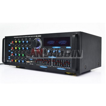Home audio amplifier / high-power amplifier with EQ Equalizer / USB card with Bluetooth