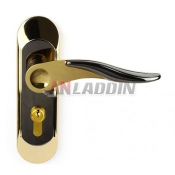 Interior room door handle lock