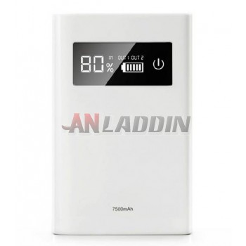 LCD Dual USB 7500 mA mobile power bank
