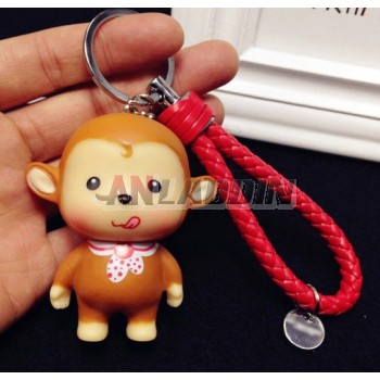 little monkey pvc keychain