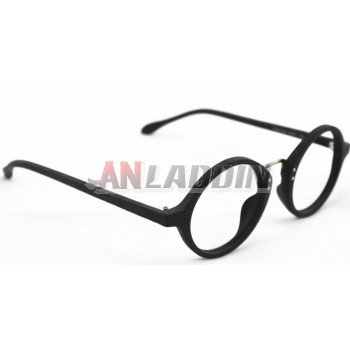 men's wood grain retro round glasses frames