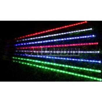 Meteor flashing LED holiday lights