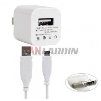 Micro USB Data Cable + Mobile Charger