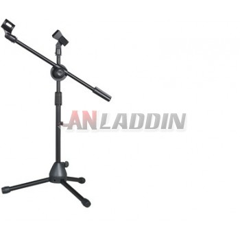 Microphone floor The tripod / adjustable double clip microphone stand