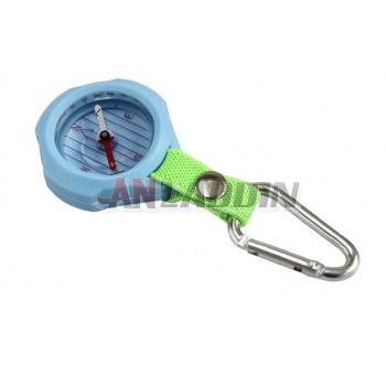 Mini compass with carabiner