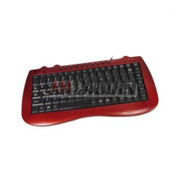 Mini ultrathin USB Wired Keyboard