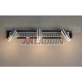 Minimalist aluminum 30-58CM LED mirror front lamps