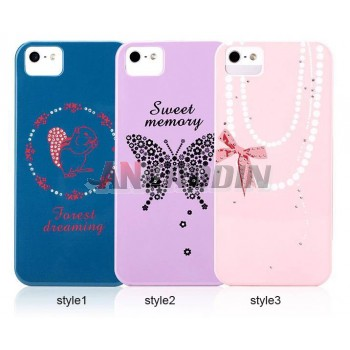 Mobile phone cartoon leather case for iphone 5 / 5S
