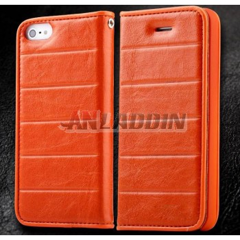 Mobile phone leather case for iphone 5 / 5S