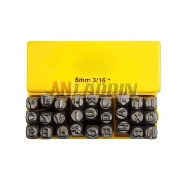 Multi-standard steel letters / stenciled