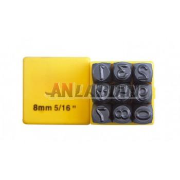 Multi-standard steel numbers / digital stenciled