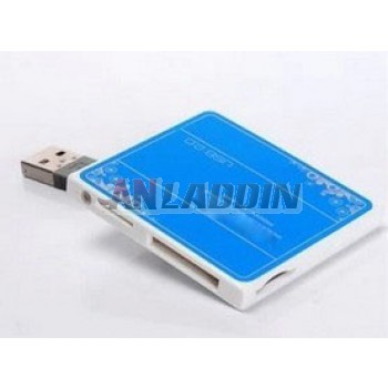 Multi Card Reader TF/SD/MS/M2 reader with display lights