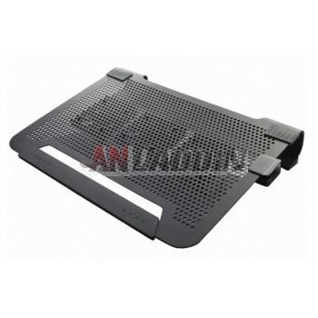 Mute 17-inch aluminum laptop cooler