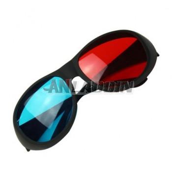 High Definition / no ghosting red and blue 3d glasses for computer