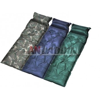 One person self-inflating camping mat with pillow