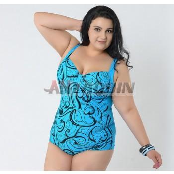 Plus size woman sexy one-piece swimwear